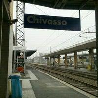 Photo taken at Stazione Chivasso by Mariaelena L. on 10/23/2011