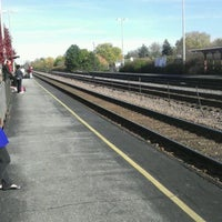 Photo taken at Lombard Metra Station Main Street by Adam F. on 11/5/2011