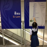 Photo taken at MRT Si Lom (SIL) by Tanaphat S. on 6/22/2012