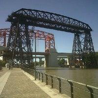 Photo taken at Puente Nicolás Avellaneda by morsa m. on 3/27/2011