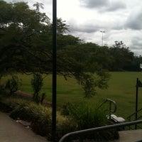 Photo taken at QUT Kelvin Grove Oval by Mia F. on 10/27/2011
