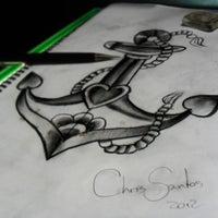 Photo taken at Calavera Tattoo Arte Estilo by Calavera T. on 5/15/2012