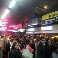 Photo taken at TransMilenio: Escuela Militar by Luis G. on 6/20/2012