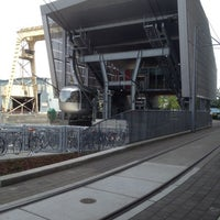 Photo taken at Portland Aerial Tram - Lower Terminal by Christian M. on 5/30/2012