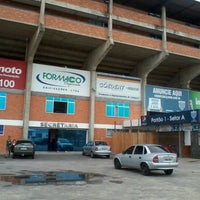Photo taken at Estádio Aderbal Ramos da Silva (Ressacada) by Alexandre K. on 10/8/2011
