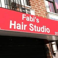 Photo taken at Fabi's Hair Studio by Crystal L. on 3/28/2012