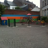 Photo taken at Ecole de la Communauté Francaise by Erika A. on 6/19/2012