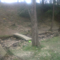 Photo taken at Marshall Street Pyramids Disc Golf Course by Rus L. on 4/21/2012