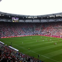 Photo taken at Stadion Wrocław by Martin S. on 6/12/2012