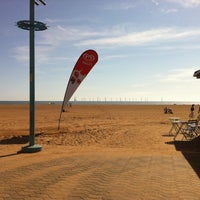 Photo taken at Skegness Beach by Emily L. on 8/22/2011