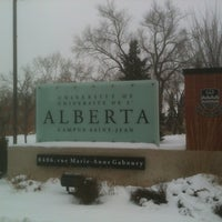 Photo taken at Campus Saint-Jean by Greg R. on 3/3/2012