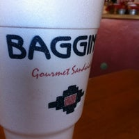 Photo taken at Baggin's Gourmet Sandwiches by Joel S. on 2/20/2012