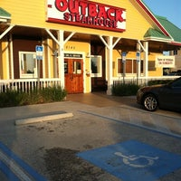 Photo taken at Outback Steakhouse by Brian M. on 7/28/2011