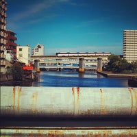 Photo taken at 高浜橋 by grizzlygrizzly on 6/26/2012