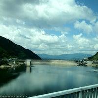 Photo taken at 阿木川ダム by bingzgurl on 8/31/2012