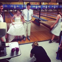 Photo taken at Stoneleigh Duckpin Bowling Center by Anna Grace P. on 8/18/2012