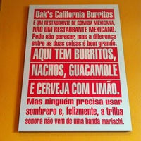 Photo taken at Oak's California Burritos by Juliano D. on 8/24/2012