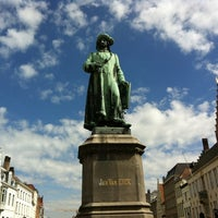 Photo taken at Jan Van Eyck Plein by Anka on 8/27/2012