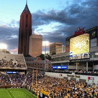Photo taken at Bobby Dodd Stadium by Claire C. on 9/8/2012