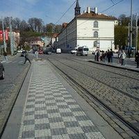 Photo taken at Malostranská (tram) by Tigra . on 4/18/2012