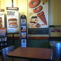Photo taken at Einstein Bros Bagels by Haley G. on 6/4/2012