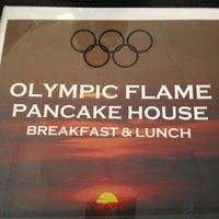 Photo taken at Olympic Flame Pancake House by Matt M. on 8/2/2012