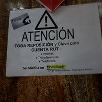 Photo taken at BancoEstado by Fernanda G. on 9/11/2012