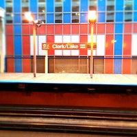 Photo taken at CTA - Clark/Lake by S H. on 4/21/2012