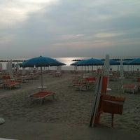 Photo taken at Gallanti Beach Pomposa by Matteo M. on 6/25/2012