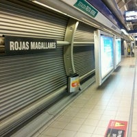 Photo taken at Metro Rojas Magallanes by Marco Andrés V. on 6/22/2012