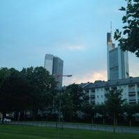 Photo taken at Frankfurt Skyline View by Andrey V. on 7/20/2012
