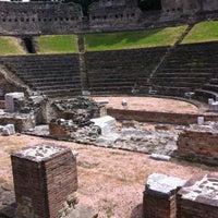 Photo taken at Teatro Romano by Fabrizio R. on 4/29/2012