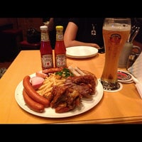 Photo taken at Paulaner Bräuhaus by Jesslyn C. on 6/16/2012