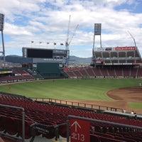 Photo taken at Mazda Zoom-Zoom Stadium Hiroshima by Kaichiro S. on 8/25/2012