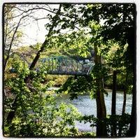 Photo taken at West Newton Bridge by Kimberly B. on 5/22/2012