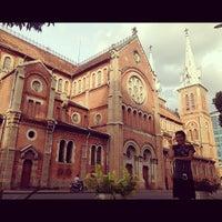 Photo taken at Saigon Notre-Dame Basilica by Eeman T. on 9/2/2012