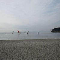 Photo taken at Zushi Beach by Tadashi O. on 1/29/2011