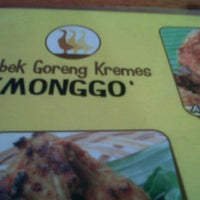Photo taken at Bebek Goreng Kremes Monggo by Ilham A. on 6/1/2011