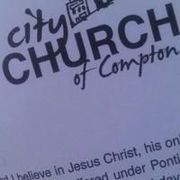 Photo taken at City Church of Compton by Victor C. on 10/30/2011