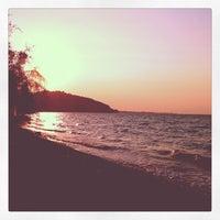 Photo taken at Vlastos beach by Stelios K. on 9/8/2012