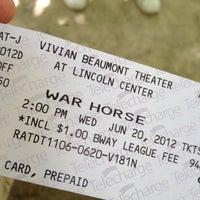 Photo taken at Warhorse @ Vivian Beaumont Theater by Dan O. on 6/20/2012
