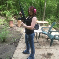 Photo taken at slowsticky's shooting range by Gringa on 5/8/2012