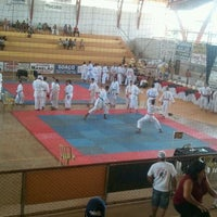 Photo taken at Ginásio Poliesportivo Municipal by J. Ricardo S. on 6/2/2012