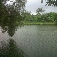 Photo taken at Situ Sawangan by Uwie P. on 11/1/2011
