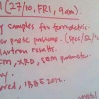 Photo taken at Lab 411 Fakulti Sains Gunaan UiTM by Hafiz W. on 10/27/2011