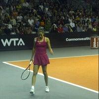 Photo taken at Sony Tennis Hotspot by Nyoman Adi S. on 11/6/2011