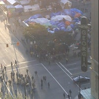 Photo taken at Occupy Vancouver Protest by Kathleen R. on 10/23/2011