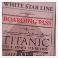 Photo taken at Titanic: 100th Anniversary Exhibit by Jeffrey B. on 7/7/2012