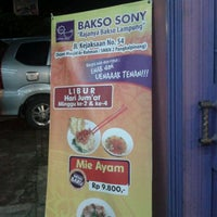 Photo taken at Bakso sony by R Mirwanto on 3/6/2012