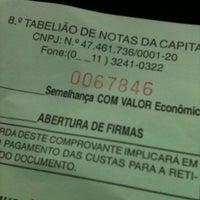 Photo taken at 8º Tabelião de Notas by Gustavo B. on 6/25/2012